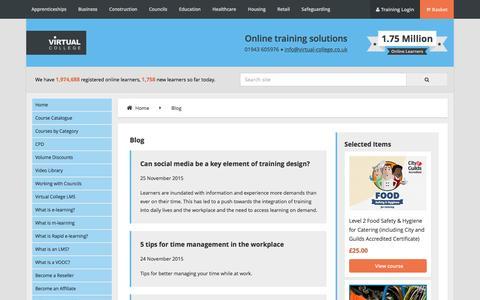 Screenshot of Blog virtual-college.co.uk - Blog - captured Jan. 27, 2016