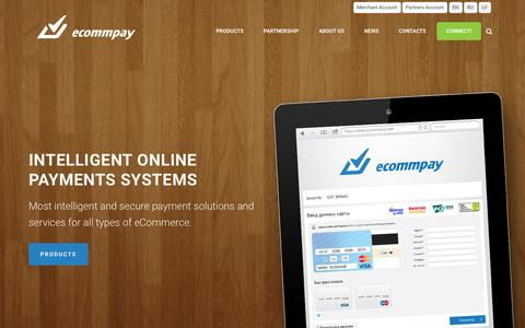 Screenshot of Home Page ecommpay.com - ECommPay — Global Payment Provider, Customised Payment Gateway - captured Jan. 16, 2015
