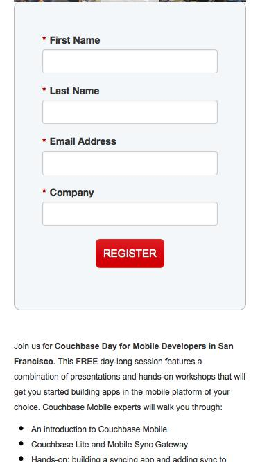 Couchbase Day for Mobile Developers in San Francisco