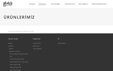 Screenshot of Menu Page tanengida.com - Ürünlerimiz – El emeği artizan ürünler - captured Nov. 19, 2018