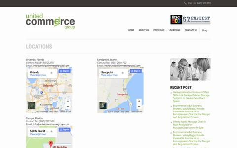 Screenshot of Locations Page unitedcommercegroup.com - Locations – United Commerce Group - captured Dec. 2, 2016