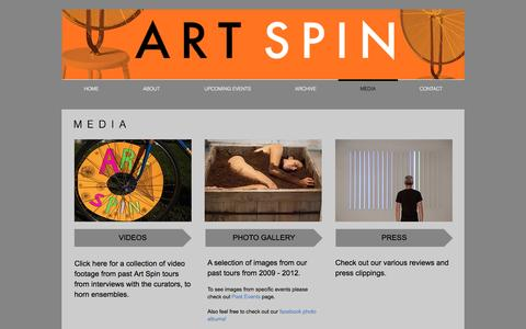 Screenshot of Press Page artspin.ca - Media - captured May 30, 2017