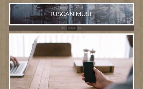 Screenshot of Contact Page wordpress.com - Contact – Tuscan Muse - captured Nov. 27, 2018