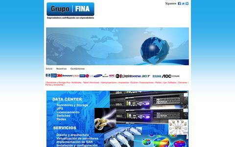 Screenshot of Home Page grupofina.com - Grupo FINA (Fina Group SAC) Soluciones informaticas y equipos - captured Sept. 27, 2014