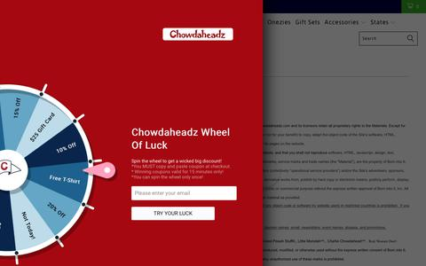 Screenshot of Terms Page chowdaheadz.com - Website Terms Of Use Agreement - Chowdaheadz - captured July 29, 2017