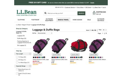 Luggage Duffle Bags | Free Shipping at L.L.Bean.