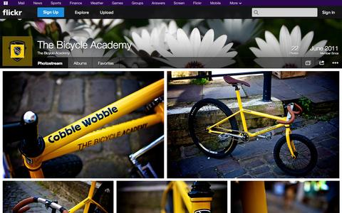 Screenshot of Flickr Page flickr.com - Flickr: The Bicycle Academy's Photostream - captured Oct. 26, 2014