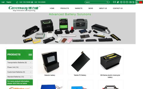 Screenshot of Products Page greenway-battery.com - Dongguan Greenway Battery Co.,Ltd. - captured Oct. 17, 2016