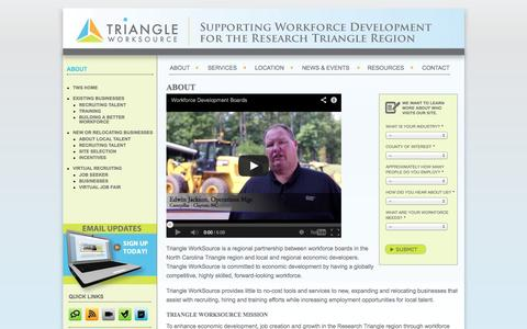Screenshot of About Page triangleworksource.com - About  |  Triangle Work Source - captured Oct. 7, 2014