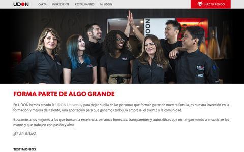 Screenshot of Team Page udon.es - Cadena de comida asiática especializada en noodles I UDON Noodle Bar - captured Sept. 27, 2018