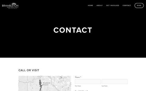 Screenshot of Contact Page brambletonchurch.org - Contact —  Brambleton Presbyterian Church - captured Nov. 13, 2018