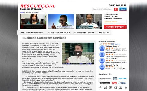 Screenshot of Support Page rescuecom.com - Business IT Support | Business Computer Services - captured Sept. 7, 2017