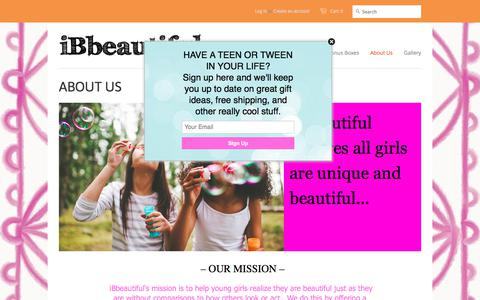 Screenshot of About Page ibbeautiful.com - About ibbeautiful and monthly subscription gift boxes - iBbeautiful - captured June 8, 2017