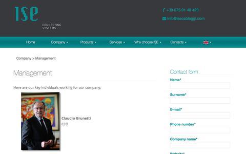 Screenshot of Team Page isecablaggi.com - Management - ISE CABLAGGI - captured Oct. 5, 2017