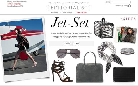 Screenshot of Home Page editorialist.com - Editorialist | Luxury Fashion Accessories Magazine & Online Store - captured Dec. 11, 2015