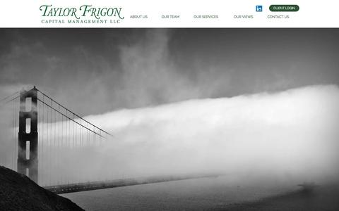 Screenshot of Home Page taylorfrigon.com - Taylor Frigon Capital Management investment & wealth planning - captured Feb. 14, 2016