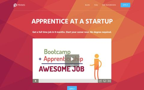 Praxis | Apprentice at a Startup