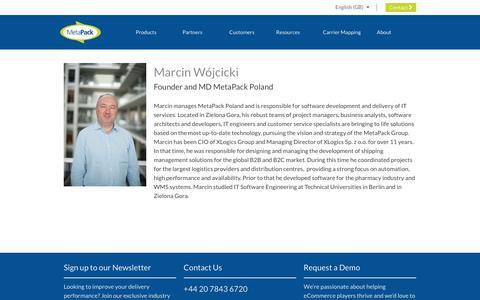 Screenshot of Team Page metapack.com - Marcin Wójcicki - MetaPack Official | eCommerce Delivery Management Software - captured April 29, 2019