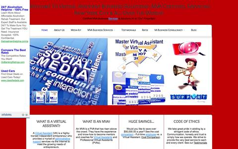 Screenshot of Home Page vabizsolutions.com - Virtual Assistant Business Solutions - MVA Certified, Servicing NYC and All Over The World! - captured Oct. 6, 2014