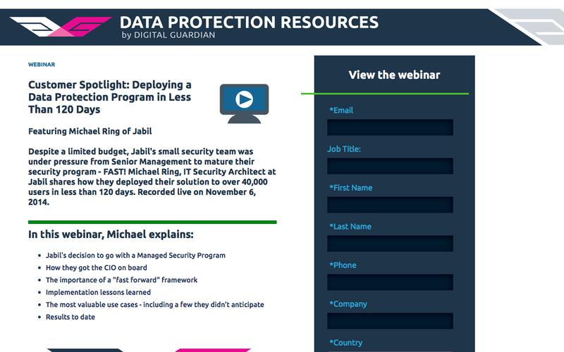 Jabil Customer Spotlight: Deploying a Data Protection Program in Less Than 120 Days | Rapid Data Protection Deployment with Managed Security Services