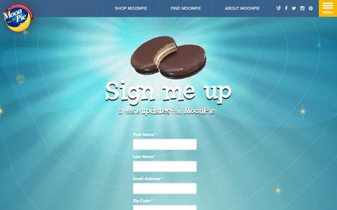 Screenshot of Signup Page moonpie.com - Email Signup | MoonPie - captured Jan. 19, 2016