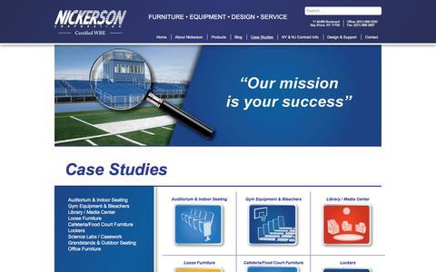 Screenshot of Case Studies Page nickersoncorp.com - Case Studies   Nickerson NY - FURNITURE • EQUIPMENT • DESIGN • SERVICE - captured Nov. 2, 2017