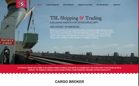 Screenshot of Home Page tsl-shipping.com - TSL | Navigate the Clever Way - captured Jan. 29, 2015