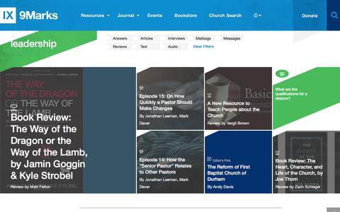 Screenshot of Team Page 9marks.org - Leadership : 9Marks - captured June 11, 2017