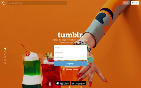 Screenshot of Signup Page tumblr.com - Sign up | Tumblr - captured Dec. 5, 2015