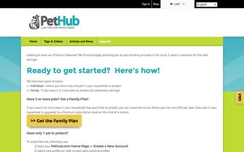 Screenshot of Pricing Page pethub.com - Basic and Premium Features & Pricing | PetHub - captured July 3, 2016