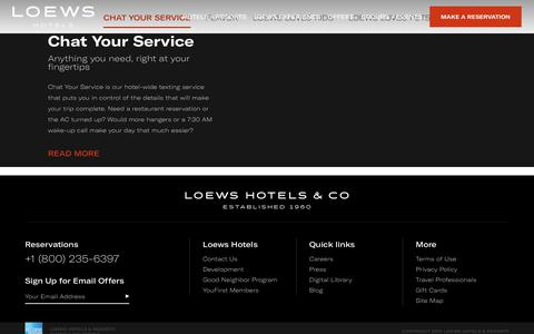 Loews Hotels: Luxury Hotels | Luxury Accommodations