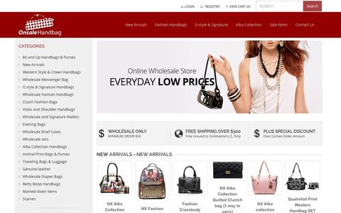 Screenshot of Home Page rfacdepot.com - Wholesale Handbags, Evening Bags, Wallets - Onsale Handbag - captured May 27, 2016