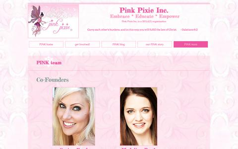 Screenshot of Team Page pinkpixie.org - Pink Pixie Contact Information - captured July 13, 2018