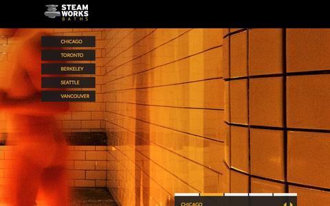 Screenshot of Home Page steamworksbaths.com - Home - Steamworks Baths   Private Men's Gym, Sauna & Bathhouse - captured Jan. 31, 2016