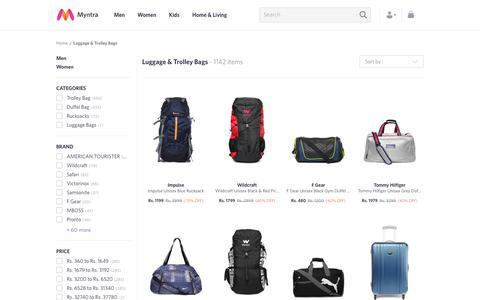Screenshot of myntra.com - Trolley Bags - Buy Luggage Bags Online in India - captured June 10, 2017