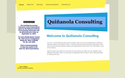 Screenshot of Home Page ngqconsulting.com - Quinanola Consulting - Home - captured Feb. 2, 2016