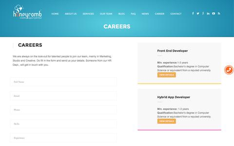 Honeycomb Creative support-Careers