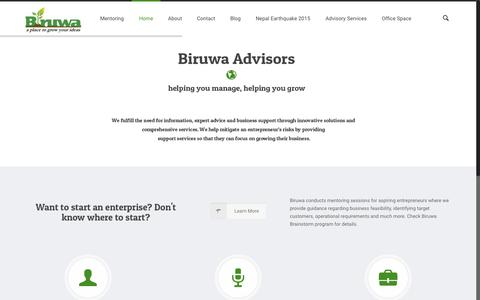 Screenshot of Home Page biruwa.net - Biruwa - Helping entrepreneurs start and grow their business - captured Sept. 13, 2015
