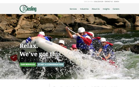 Screenshot of Home Page kiesling.com - Home - Kiesling Associates LLP - captured Feb. 12, 2016
