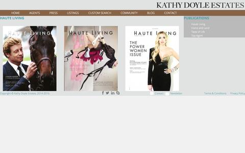 Screenshot of Press Page kathydoyleestates.com - Haute Living | Kathy Doyle Estates - captured Jan. 9, 2016
