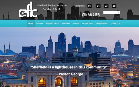 Screenshot of Home Page sflc.net - Sheffield Family Life Center | Sheffield Family Life Center - captured Sept. 30, 2014