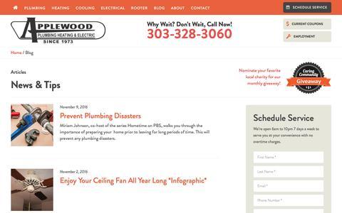 Screenshot of Press Page applewoodfixit.com - Denver Plumbing Blog | News, Tips & Tricks - captured Nov. 21, 2016