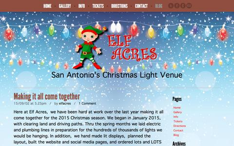 Screenshot of Blog elfacres.com - Blog | Elf Acres - captured July 9, 2018
