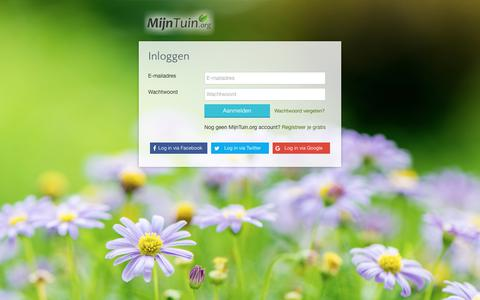 Screenshot of Login Page mijntuin.org - Inloggen | MijnTuin.org - captured July 2, 2017