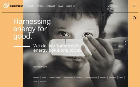 Screenshot of Home Page kpaunicon.com - Kpa Unicon | Energy for Good. - captured Nov. 15, 2018