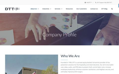 Screenshot of About Page dttusa.com - About DTT - captured Feb. 4, 2017