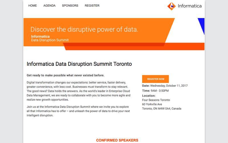 Informatica Data Disruption Summit | HOME