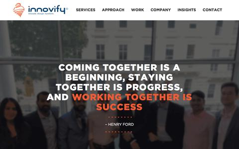 Screenshot of Team Page innovify.com - Team - Innovify - captured Sept. 12, 2019