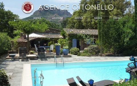 Screenshot of Home Page agence-ottonello.com - Agence immobilière à Roquebrune-sur-Argens – Agence Ottonello - captured June 2, 2016