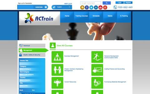 Screenshot of Team Page actksa.com - Management Training Courses Riyadh Khobar Jeddah Madinah - ACTrain - captured Nov. 2, 2014